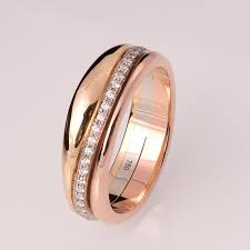tricolor ring gold and diamonds wedding band wedding ring eternity band