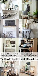 Mantel Ideas For Fireplace by Remodelaholic No Mantel No Problem 25 Ideas For Fireplace