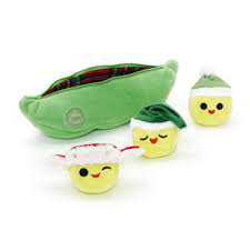 3 peas in a pod peas in a pod mini christmas soft set story 3 pea pods