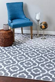 Modern Contemporary Rugs 3028 Moroccan Trellis Gray Area Rug Modern Contemporary Abstract