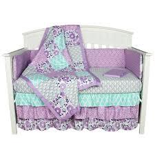 Baby Girl Nursery Bedding Set by Home Design The Peanut Shell Ba Girl Crib Bedding Set Purple