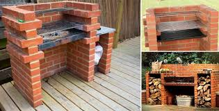 Backyard Bbq Setup Triyae Com U003d Backyard Grill Ideas Various Design Inspiration For