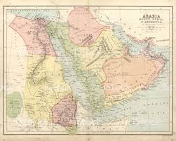 Egypt Africa Map by Antique Map Of Arabia Egypt Nubia Abyssinia 19th Century Stock