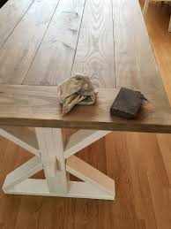 How To Build A Farmhouse Table Diy Farmhouse Table Full Tutorial Fresh Mommy Blog