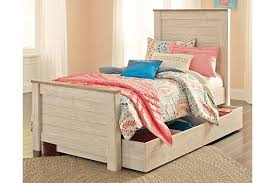 willowton twin panel bed with trundle ashley furniture homestore