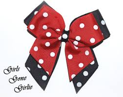 minnie mouse hairbow etsy