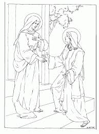 coloring page angel visits joseph mary and angel coloring page 407563
