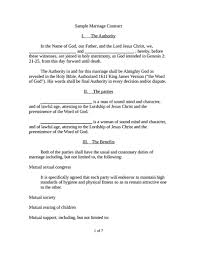 marriage contract template free download edit fill create and