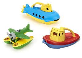 Bathtub Submarine Toy Green Toys Submarine Seaplane U0026 Tug Boat Bath Toy Bundle