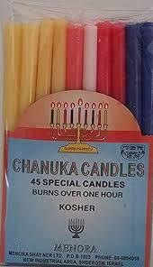 chanuka candles menora chanuka candles 45 special candles burns