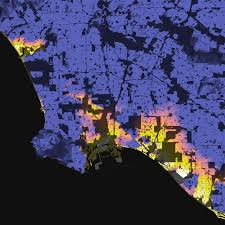 Map Los Angeles Ca by Los Angeles California U2013 Elevation And Population Density 2010