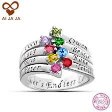 customized rings with names aliexpress buy aijaja 925 sterling silver customized women