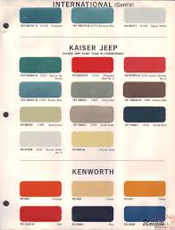 kenworth paint chart color reference
