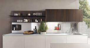 contemporary kitchen aluminum glass wood veneer kubic
