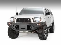 toyota tacoma front bumper guard fabfour winch mount front bumper for 2005 2011 tacoma