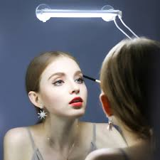 portable make up front mirror light 3 level dimming touch switch