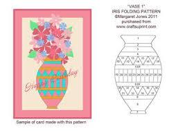 Vase With Irises Vase 1 Iris Folding Pattern Cup189284 601 Craftsuprint