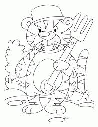 cute tiger coloring pages kids coloring