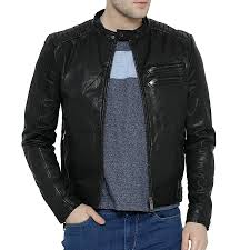 best moto jacket buy black mens leather jacket online at best price in india