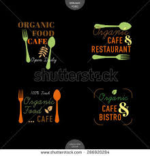 restaurant cafe signage design element stock vector 276477635