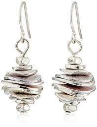earrings new york kenneth cole new york silver tone stacked disc drop earrings the