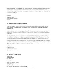 credit dispute letters