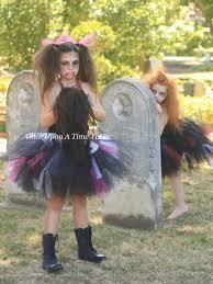 zombie tutu dress black pink halloween costume little