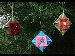 fabric folded ornament