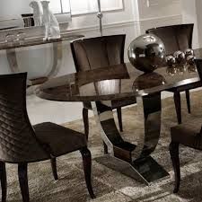 Oval Marble Dining Table Luxury Italian Brown Marble Oval Dining Set Juliettes Interiors