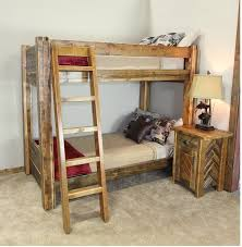 Barnwood Bunk Beds Glacier Park Belly River Reclaimed Barnwood Bunk Bed