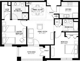 Large Luxury House Plans Apartment Endearing Luxury Two Bedroom Apartment Floor Plans