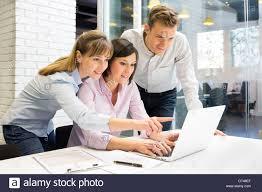 Business Computer Desk Business Computer Desk Start Up Stock Photo 66477335