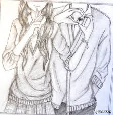anime couple drawings in pencil archives pencil drawing collection