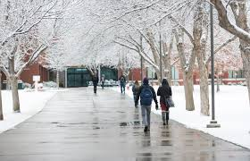 Boise State Campus Map Winter Campus Scenes Photo By Allison Corona Office Of