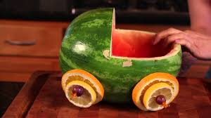 how to make baby shower treats with watermelon melon craze youtube