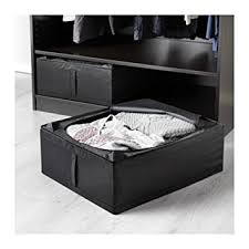 ikea under bed storage amazon com ikea skubb underbed storage box black 2 pack home