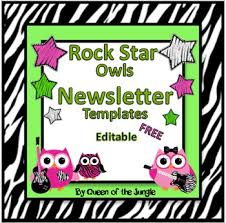 newsletter templates editable free by queen of the jungle tpt