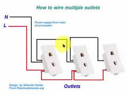 how to wire multiple outlets in urdu hindi video tutoiral youtube