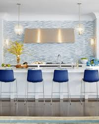 kitchen modern minimalist kitchen features gold backsplash with