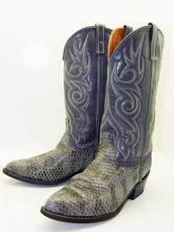 s boots cowboy s size 9 5d acme gray snakeskin cowboy boots cowboy boots