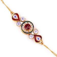 buy rakhi online classic kundan meena work rakhi buy online designer rakhi