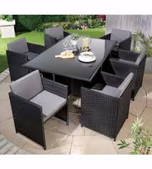 brand monaco 7 piece rattan cube dining set in stoke on