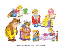 cute fairy tale characters isolated stock illustration
