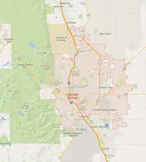 Colorado Springs Co Map by Colorado Springs Colorado Map