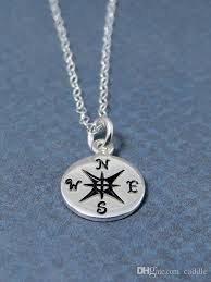 silver necklace cheap images Min gold silver compass necklace find your true north tiny jpg
