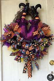 How To Make Halloween Wreath With Mesh by 451 Best Halloween Witch Wreaths Images On Pinterest Halloween
