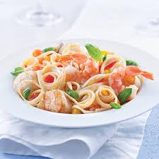linguines aux fruits de mer sauce safranée recettes cuisine et
