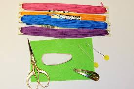 felt hair treasures for tots embroidered felt hair clip
