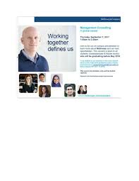Cover Letter For Mckinsey Mckinsey And Company Recruitment Session