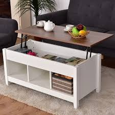 lift top coffee table with storage costway lift top coffee table w hidden compartment and storage